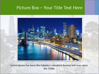 Skyline of downtown PowerPoint Template - Slide 15