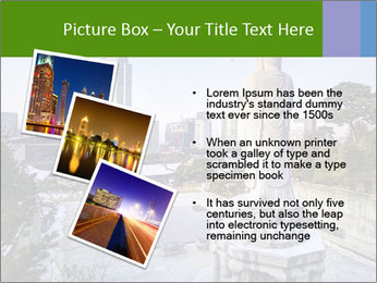 Skyline of downtown PowerPoint Template - Slide 17