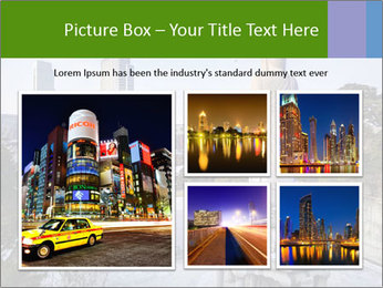 Skyline of downtown PowerPoint Template - Slide 19