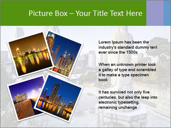 Skyline of downtown PowerPoint Template - Slide 23