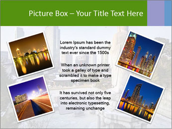 Skyline of downtown PowerPoint Template - Slide 24
