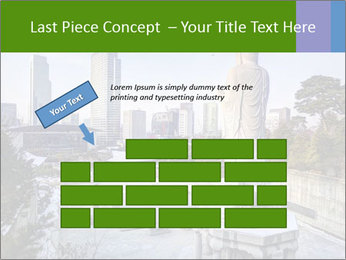 Skyline of downtown PowerPoint Template - Slide 46