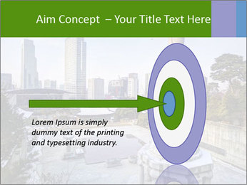 Skyline of downtown PowerPoint Template - Slide 83
