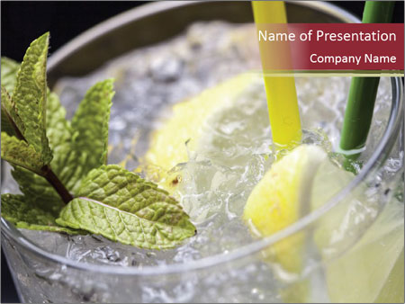 Gin tonic cocktail PowerPoint Templates