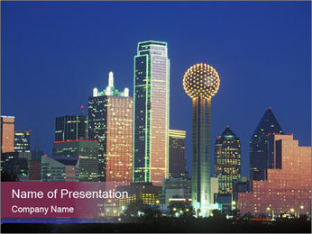 Dallas PowerPoint Template - Slide 1