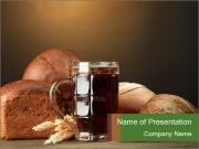 Tankard of kvass PowerPoint Templates