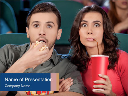 Shocked young couple PowerPoint Template