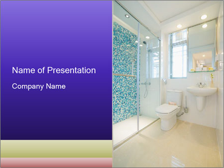 The bathroom PowerPoint Templates