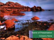 Pink Granite Coast PowerPoint Template