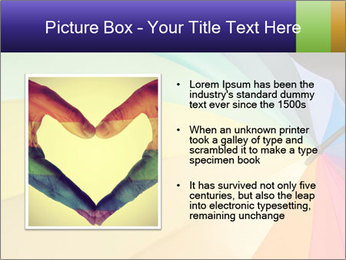 Rainbow-colored umbrella PowerPoint Templates - Slide 13