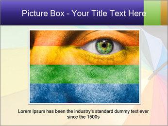 Rainbow-colored umbrella PowerPoint Templates - Slide 15