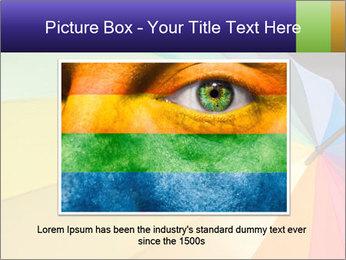 Rainbow-colored umbrella PowerPoint Templates - Slide 16