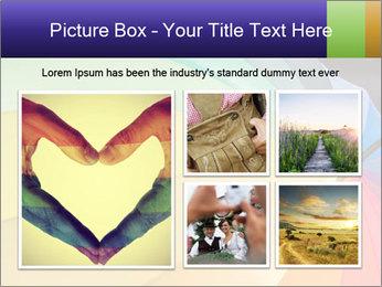 Rainbow-colored umbrella PowerPoint Templates - Slide 19