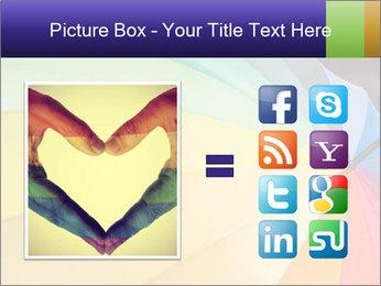 Rainbow-colored umbrella PowerPoint Templates - Slide 21