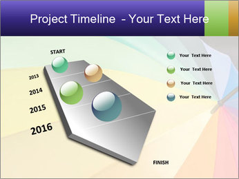 Rainbow-colored umbrella PowerPoint Templates - Slide 26