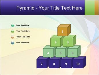 Rainbow-colored umbrella PowerPoint Templates - Slide 31