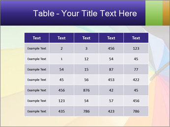 Rainbow-colored umbrella PowerPoint Templates - Slide 55