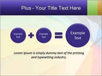 Rainbow-colored umbrella PowerPoint Templates - Slide 75