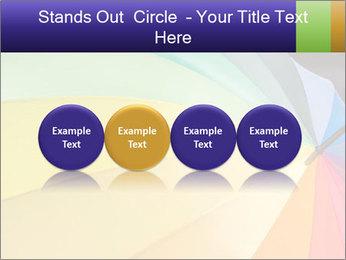 Rainbow-colored umbrella PowerPoint Templates - Slide 76