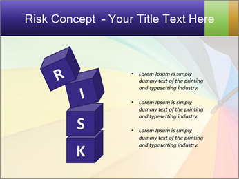 Rainbow-colored umbrella PowerPoint Templates - Slide 81