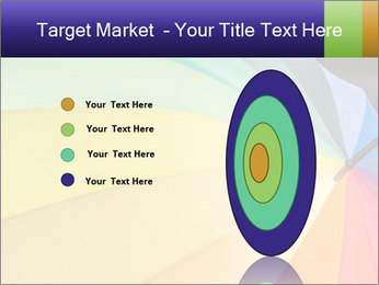 Rainbow-colored umbrella PowerPoint Templates - Slide 84