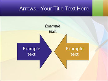 Rainbow-colored umbrella PowerPoint Templates - Slide 90