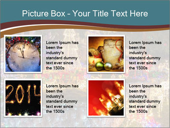 Christmas lights PowerPoint Template - Slide 14