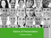 Head shot profile PowerPoint Template