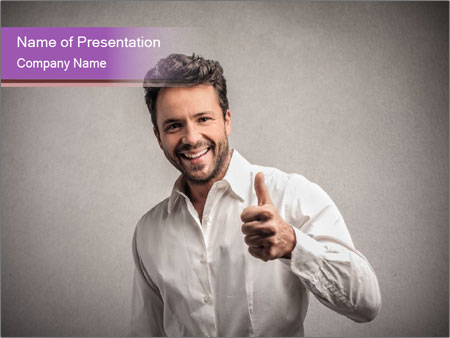 Handsome man PowerPoint Templates