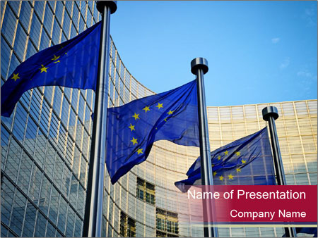 EU flags PowerPoint Templates
