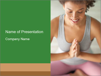 Woman doing yoga PowerPoint Templates - Slide 1