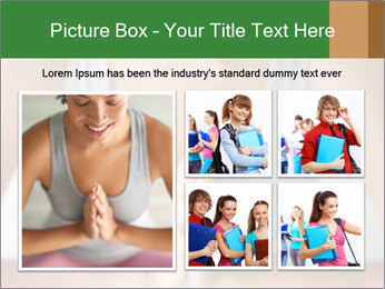 Woman doing yoga PowerPoint Templates - Slide 19