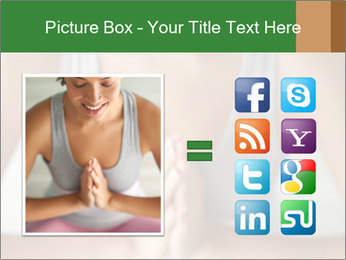 Woman doing yoga PowerPoint Templates - Slide 21