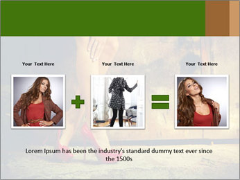 Woman legs in red PowerPoint Templates - Slide 22