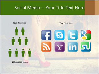 Woman legs in red PowerPoint Templates - Slide 5