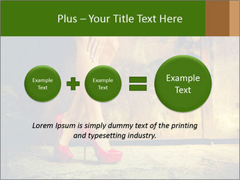 Woman legs in red PowerPoint Templates - Slide 75