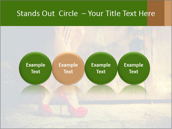 Woman legs in red PowerPoint Templates - Slide 76