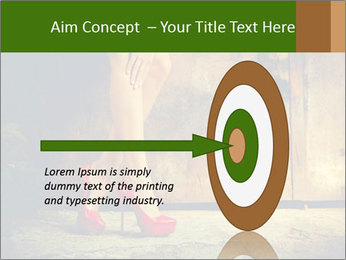 Woman legs in red PowerPoint Templates - Slide 83