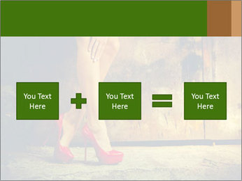 Woman legs in red PowerPoint Templates - Slide 95