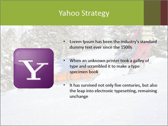 A ski patrol helping PowerPoint Templates - Slide 11