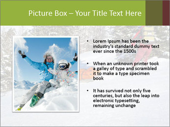 A ski patrol helping PowerPoint Templates - Slide 13