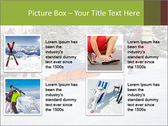 A ski patrol helping PowerPoint Templates - Slide 14