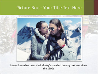 A ski patrol helping PowerPoint Templates - Slide 15