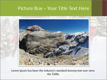 A ski patrol helping PowerPoint Templates - Slide 16