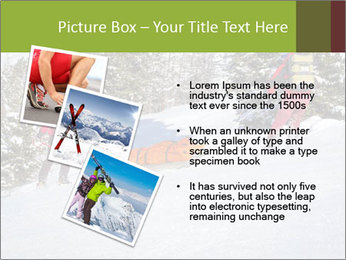 A ski patrol helping PowerPoint Templates - Slide 17