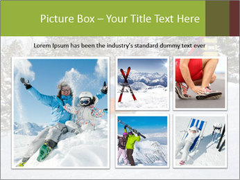 A ski patrol helping PowerPoint Templates - Slide 19