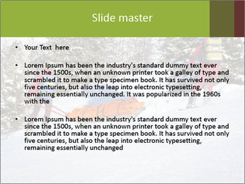 A ski patrol helping PowerPoint Templates - Slide 2
