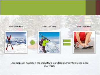 A ski patrol helping PowerPoint Templates - Slide 22