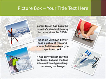 A ski patrol helping PowerPoint Templates - Slide 24