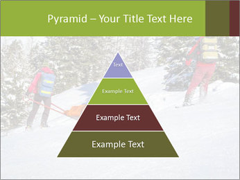 A ski patrol helping PowerPoint Templates - Slide 30